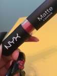 NYX Matte Lipstick Swatch In Perfect Red